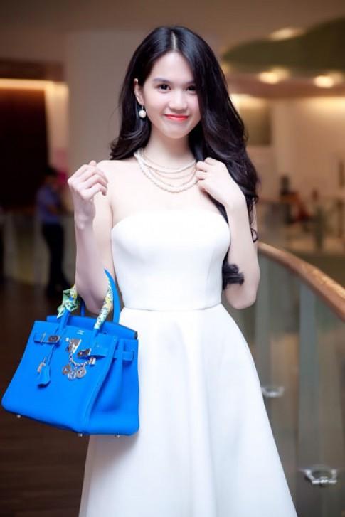 Ngọc Trinh, Kỳ Hân tinh tế với váy trắng
