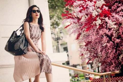 Nguyễn Thị Hà điệu với váy áo mùa xuân