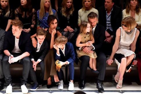 Nhà Beckham nổi bật trên hàng ghế đầu show thời trang