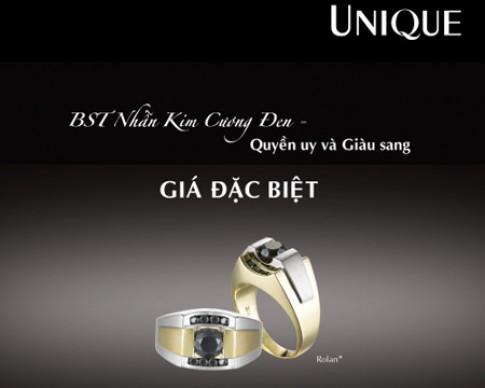 Nhẫn kim cương đen UNIQUE - quyền uy và giàu sang