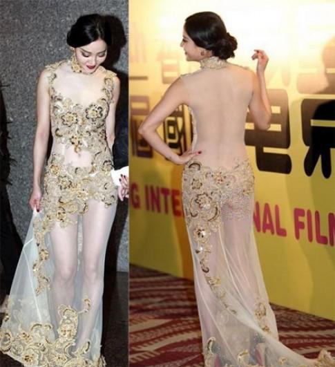 Những bộ váy phản cảm của sao châu Á năm 2013