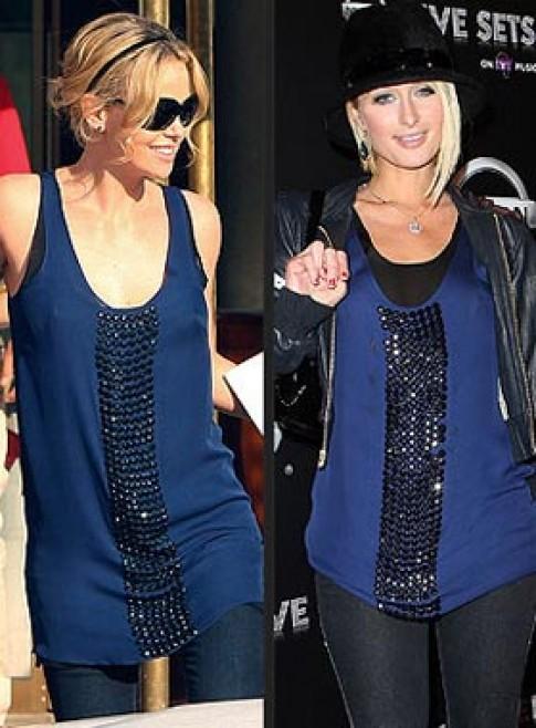 Paris Hilton 'đụng hàng'