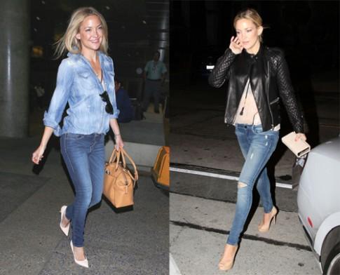 Phong cách dạo phố phóng khoáng của Kate Hudson