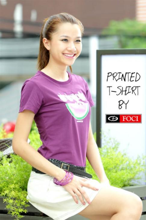 Phong cách với áo thun hình in Printed T-Shirt