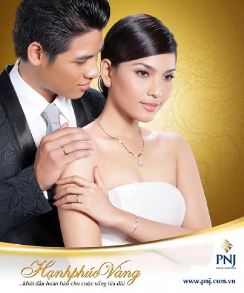 PNJ giới thiệu bộ trang sức cưới 'Hạnh phúc vàng 2012'