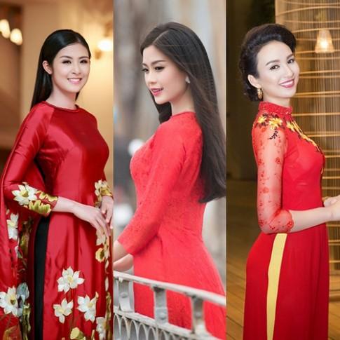 Sao Việt diện trang phục màu nổi đầu năm