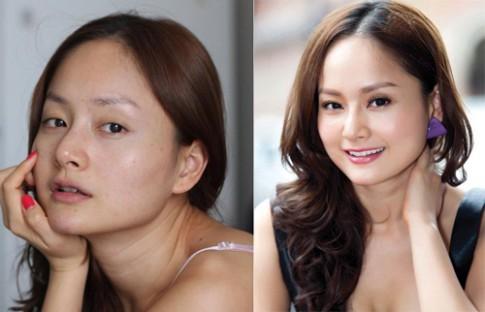 Sao Việt khác biệt trước và sau trang điểm