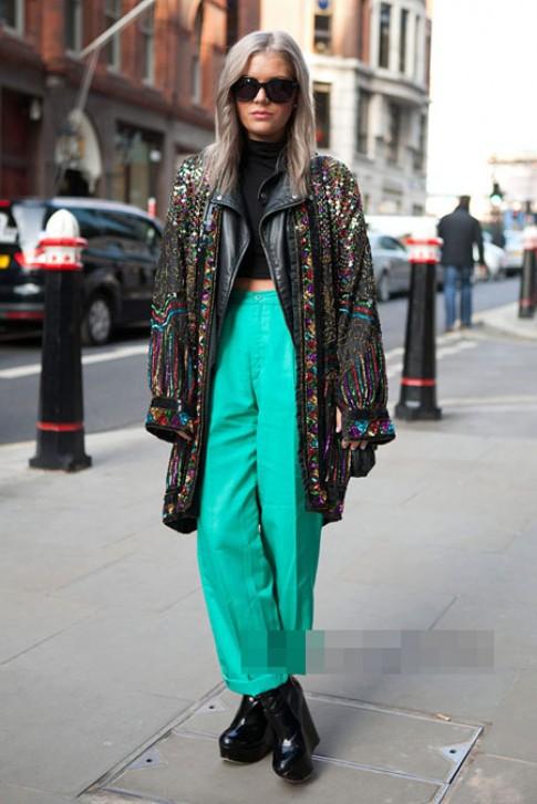 Street style xanh lục bảo bừng sức sống (tiếp)