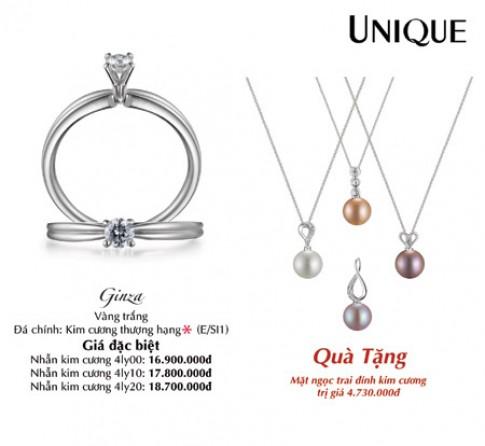 Tay đẹp với nhẫn kim cương UNIQUE
