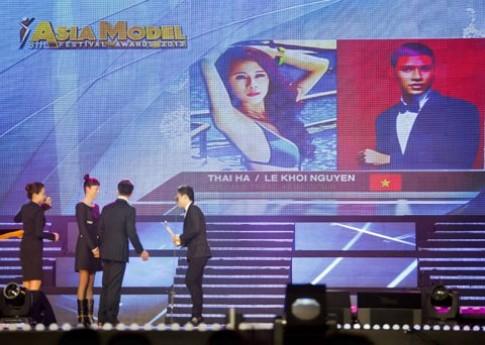 Thái Hà, Khôi Nguyên không có mặt nhận giải 'Người mẫu châu Á'