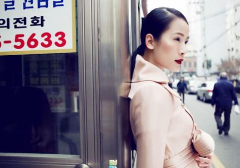 Thái Hà sành điệu với áo khoác mùa đông