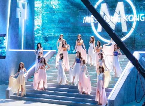 Thí sinh Hoa hậu Hong Kong yêu kiều với váy mullet