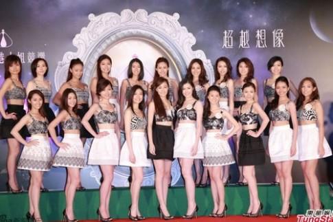 Thí sinh Miss Hong Kong đọ chân dài với váy ngắn