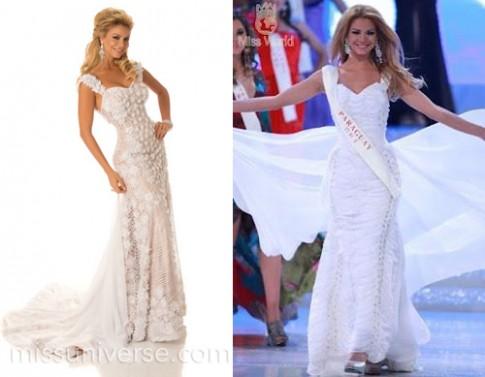 Thí sinh Miss Universe 'xào xáo' váy dạ hội
