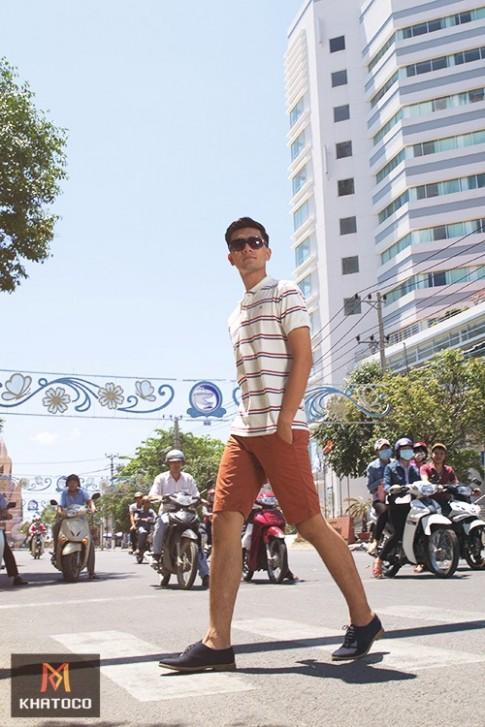 Thời trang nam Khatoco hiện đại, năng động ngày hè
