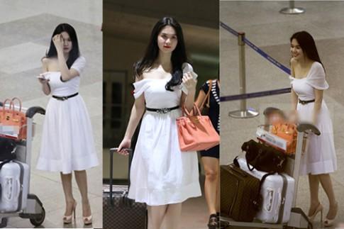 Thời trang sân bay rườm rà của sao Việt