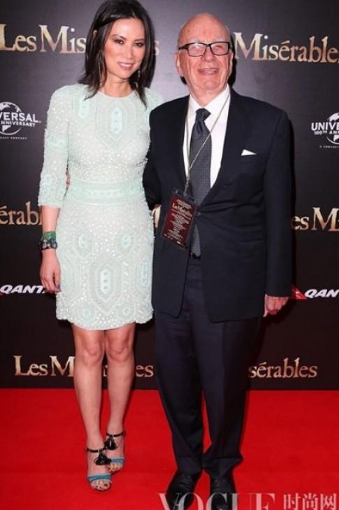 Thời trang thảm đỏ sang trọng của vợ ba Rupert Murdoch