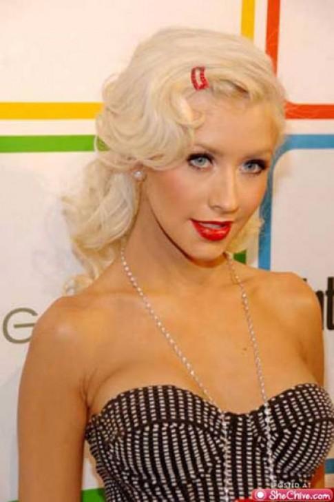 Thời trang tóc sành điệu của Christina Aguilera