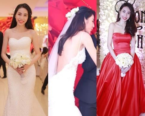 Thủy Tiên, Lê Khánh dẫn đầu top sao đẹp với váy cưới tinh tế