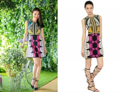 Trà Ngọc Hằng khoe váy 2.000 USD