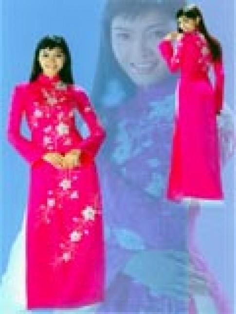 Trình diễn áo dài của Liên Hương
