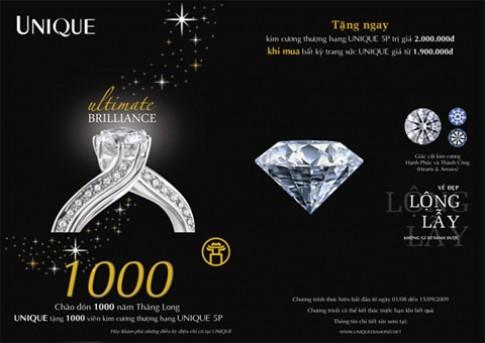 UNIQUE tặng 1.000 viên kim cương thượng hạng