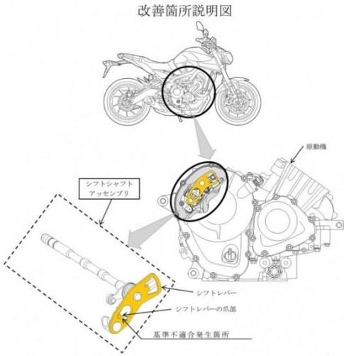 Yamaha phải triệu hồi 6 mẫu môtô vì lỗi hộp số