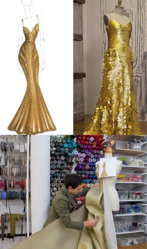 Zac Posen thiết kế váy từ vàng 24 carat