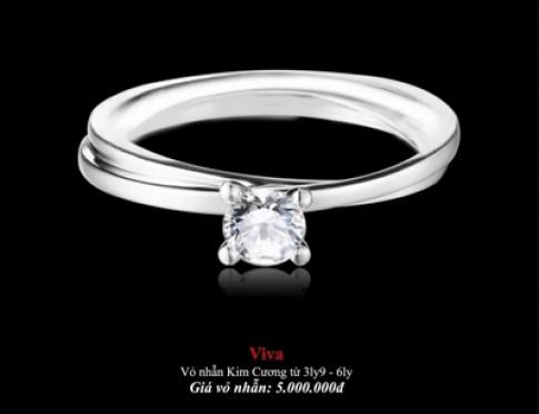 ZELA tặng vỏ nhẫn vàng trắng