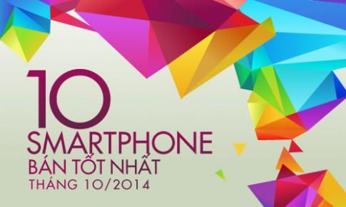 10 smartphone bán tốt nhất tháng 10/2014