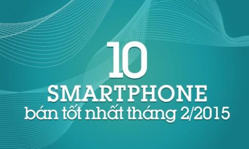 10 smartphone bán tốt nhất tháng 2/2015