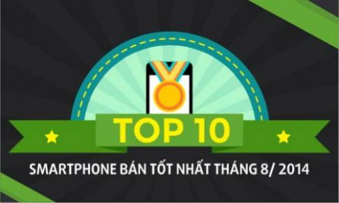 10 smartphone bán tốt nhất tháng 8/2014