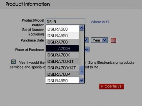 3 mẫu DSLR của Sony sắp xuất hiện