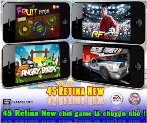 4S Retina New màn hình siêu sáng từ Saigonphone