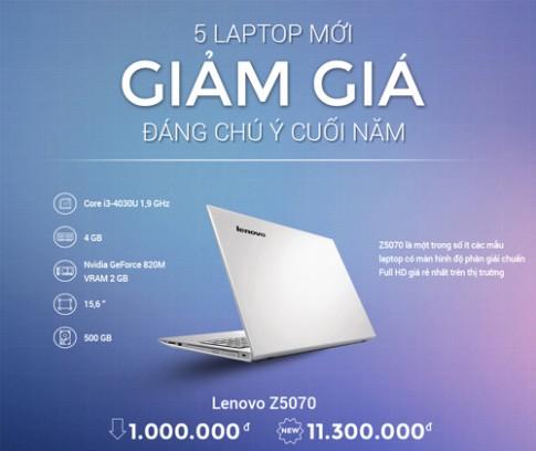 5 laptop mới giảm giá đáng chú ý cuối năm