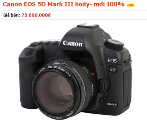 5D Mark III được rao giá 75,6 triệu đồng