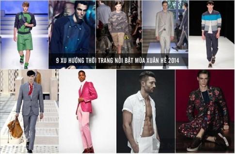 9 xu hướng thời trang nam nổi bật mùa xuân hè 2014