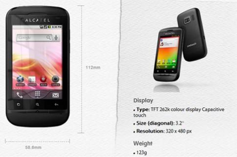 Alcatel ra smartphone 2 SIM giá rẻ