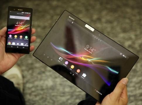 Ảnh bộ đôi Sony Xperia Tablet Z và Xperia Z tại TP HCM