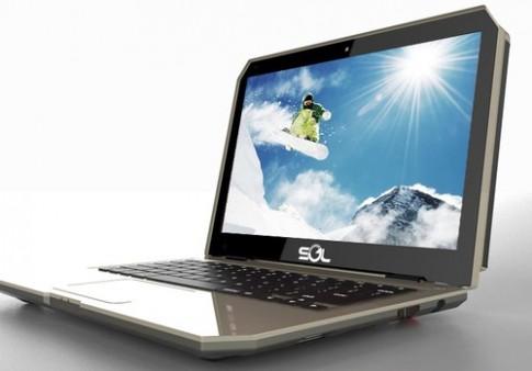 Ảnh chính thức laptop chạy bằng năng lượng mặt trời