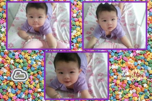 Ảnh đẹp của 'công chúa' Lucy 5 tháng tuổi