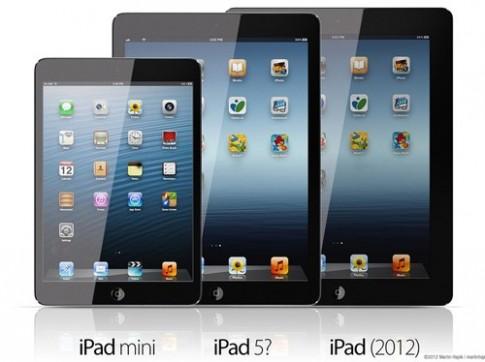 Ảnh đồ họa iPad thế hệ 5 giống iPad Mini