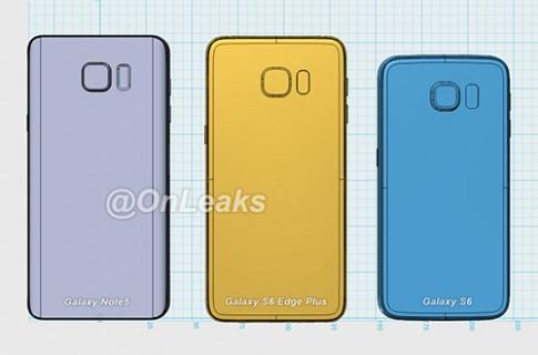 Ảnh dựng Note 5 và S6 edge Plus so kích thước S6