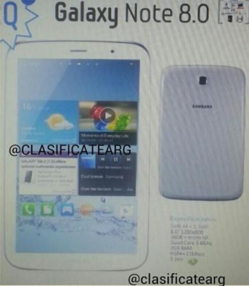 Ảnh được cho là Galaxy Note 8 inch xuất hiện
