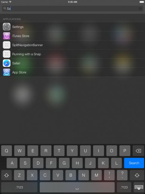 Ảnh giao diện iOS 7 trên iPad