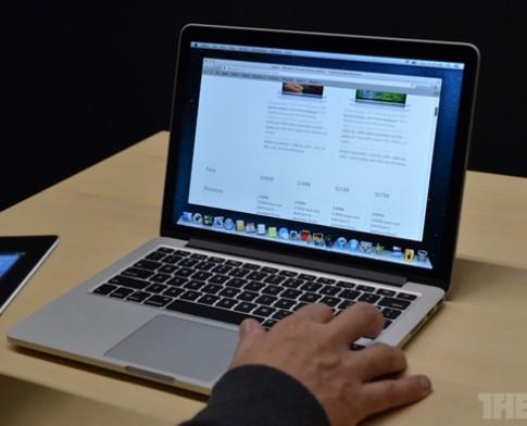 Ảnh MacBook Pro Retina màn hình 13 inch siêu mỏng nhẹ