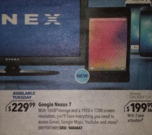 Ảnh rõ nét Nexus 7 thế hệ 2 xuất hiện