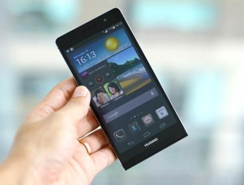 Ảnh smartphone mỏng nhất thế giới Huawei Ascend P6 tại VN