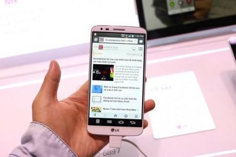Ảnh thực tế điện thoại LG G2 vừa trình làng