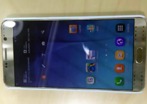 Ảnh thực tế Galaxy Note 5 vỏ vàng kèm bút S Pen